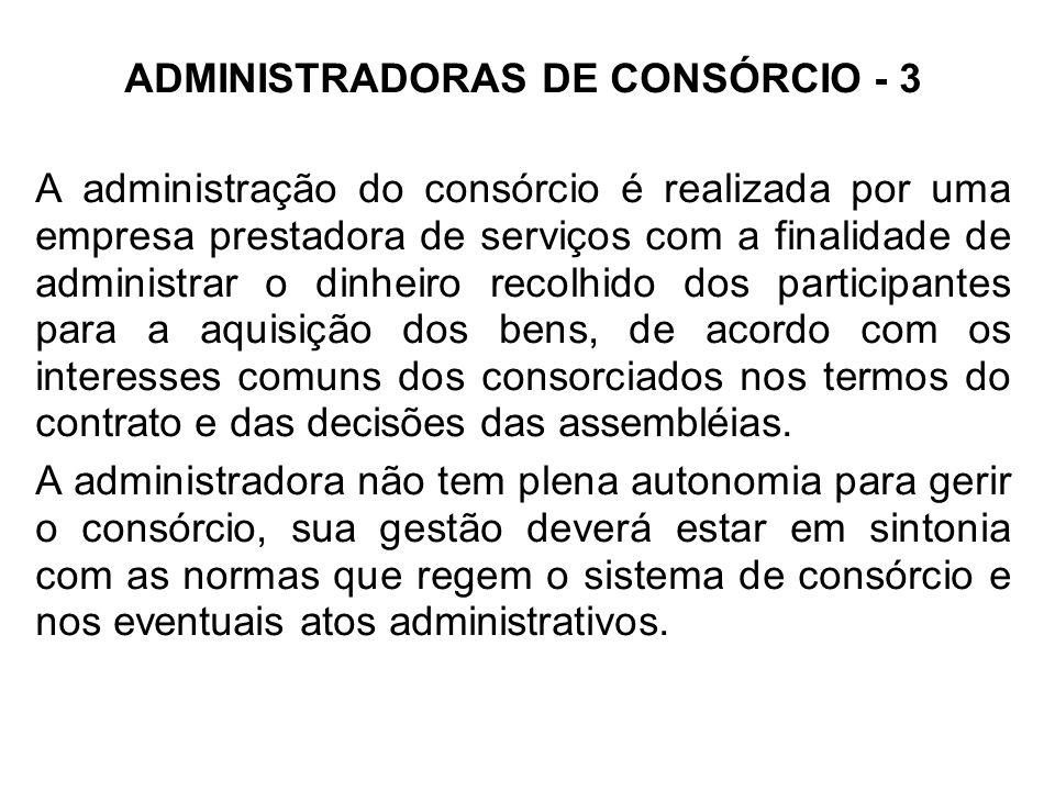 ADMINISTRADORAS DE CONSÓRCIO - 3