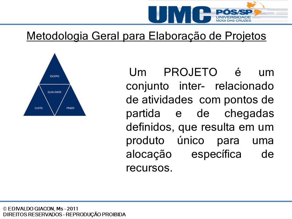 Metodologia Geral para Elaboração de Projetos