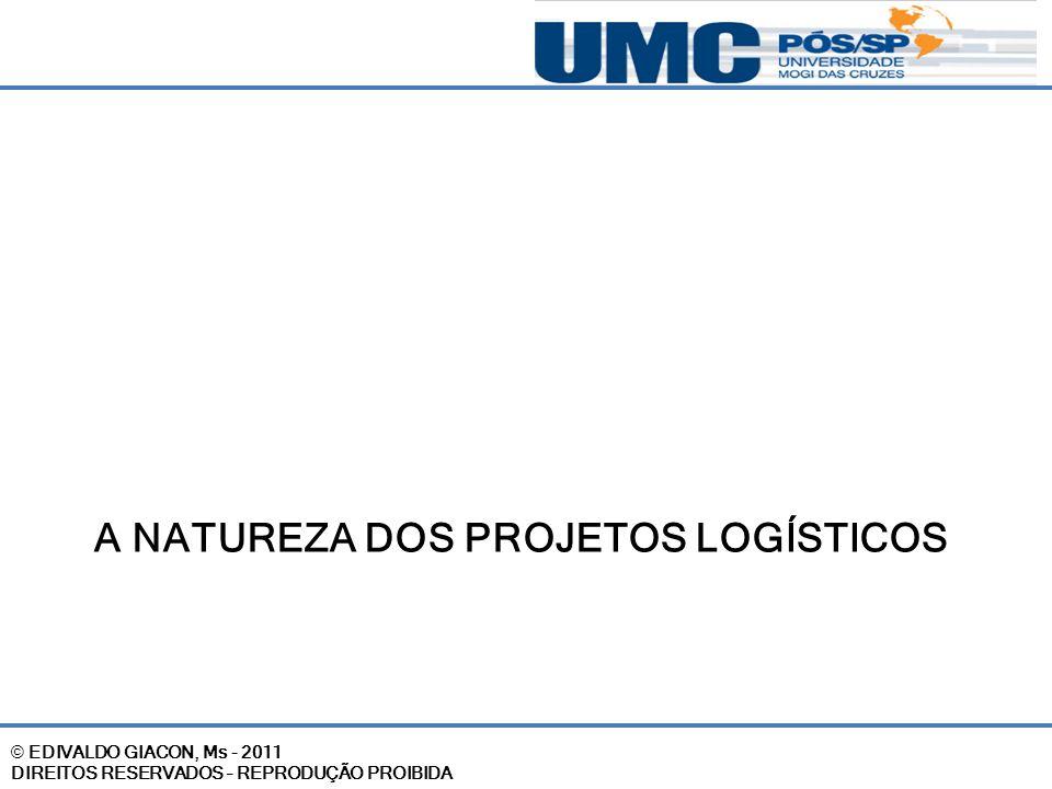 A natureza dos projetos logísticos