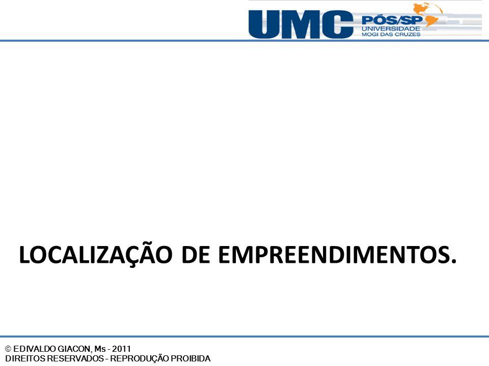 LOCALIZAÇÃO DE EMPREENDIMENTOS.