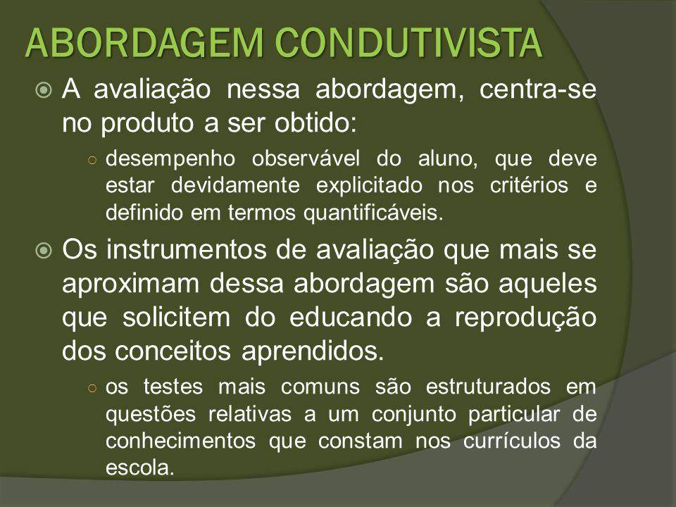 ABORDAGEM CONDUTIVISTA