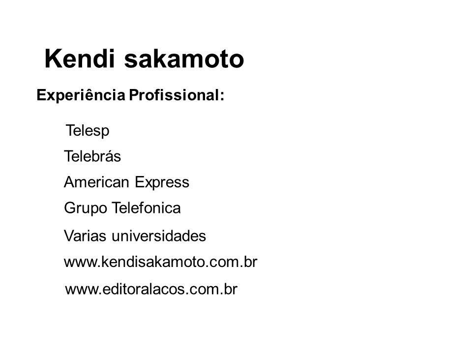 Kendi sakamoto Experiência Profissional: Telesp Telebrás