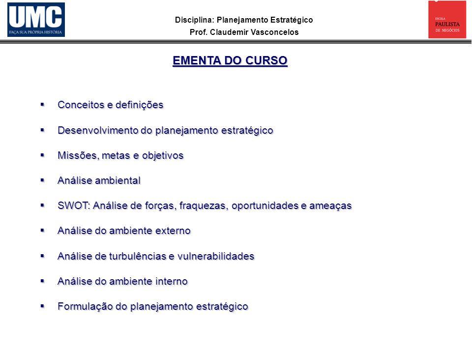 EMENTA DO CURSO Conceitos e definições