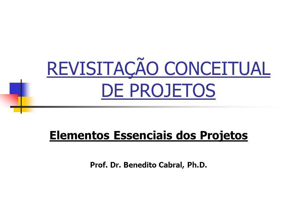 REVISITAÇÃO CONCEITUAL DE PROJETOS