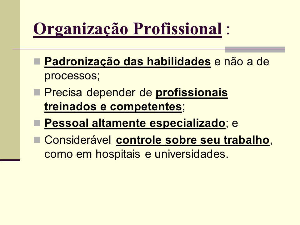 Organização Profissional :