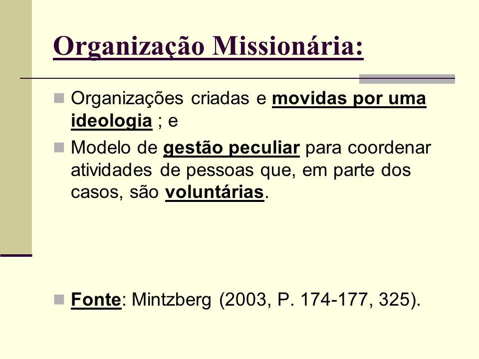 Organização Missionária: