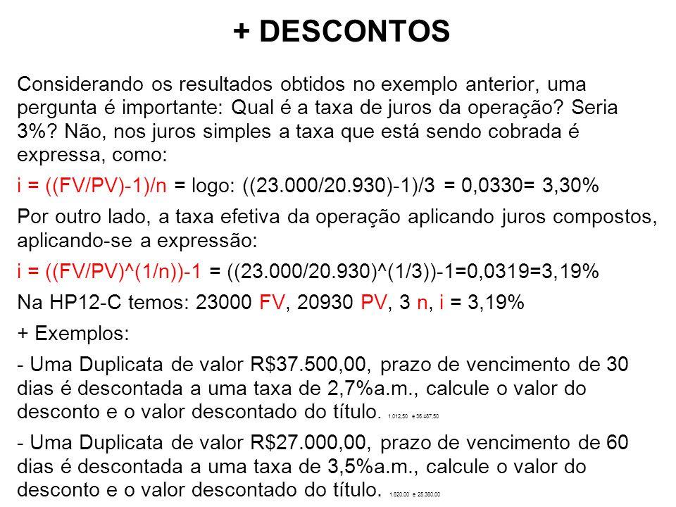 + DESCONTOS