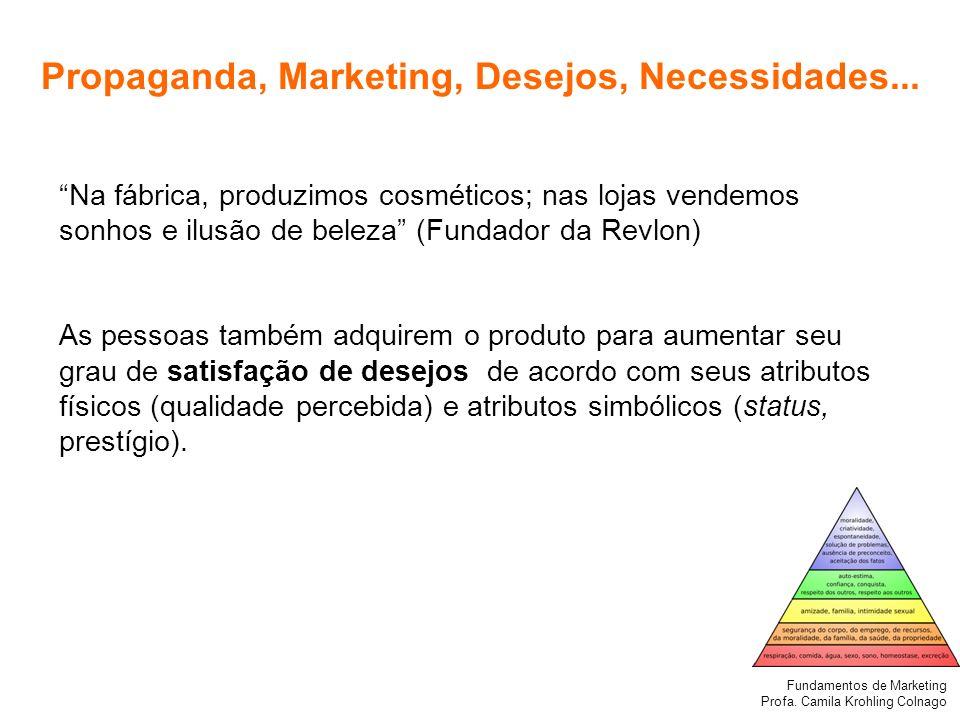 Propaganda, Marketing, Desejos, Necessidades...