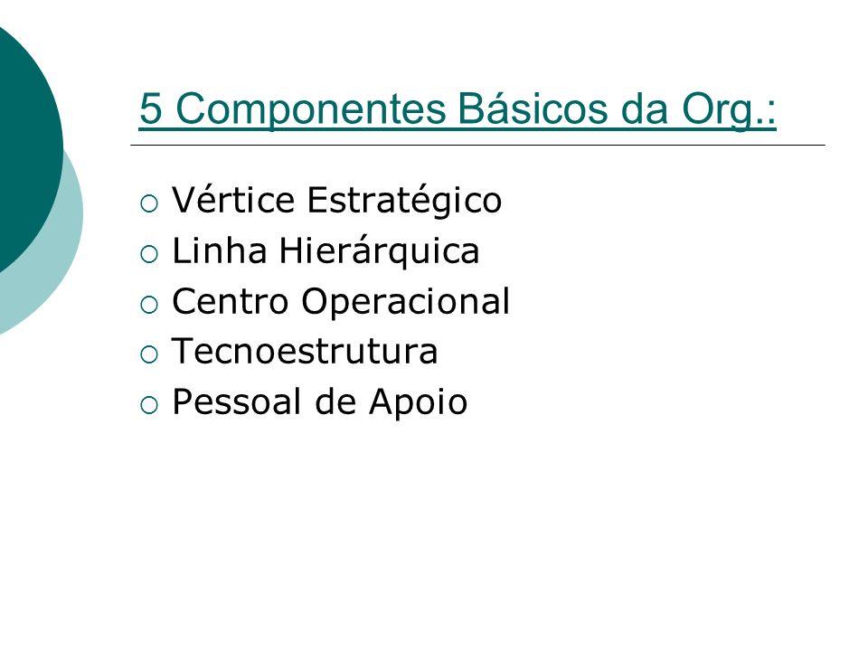5 Componentes Básicos da Org.: