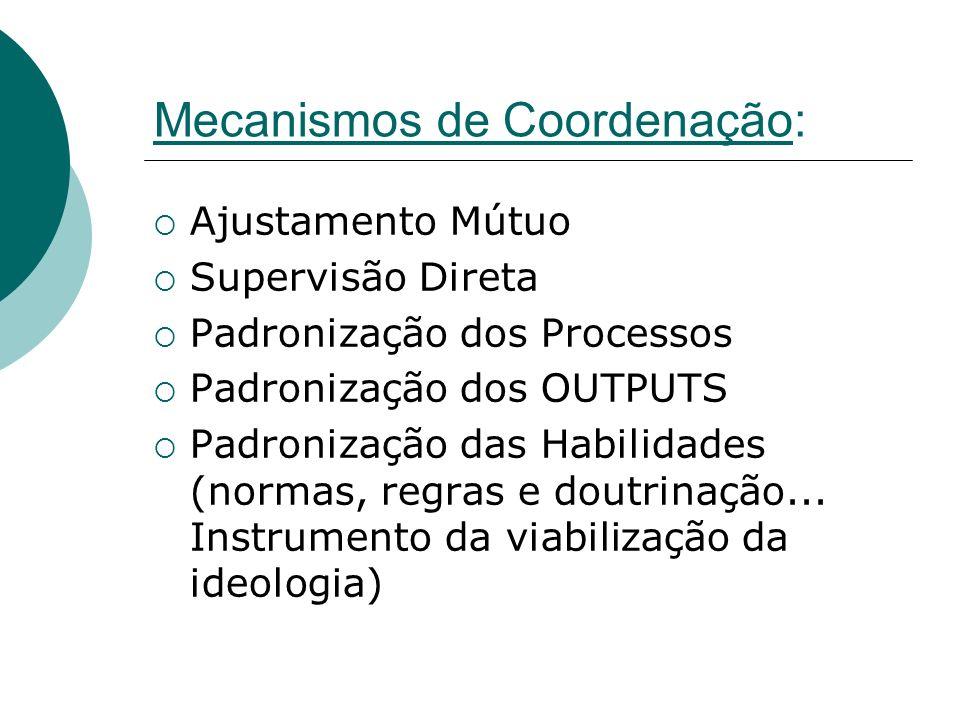 Mecanismos de Coordenação:
