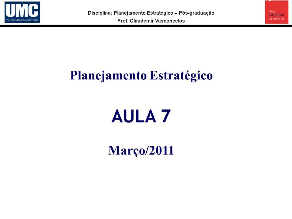 Planejamento Estratégico AULA 7 Março/2011