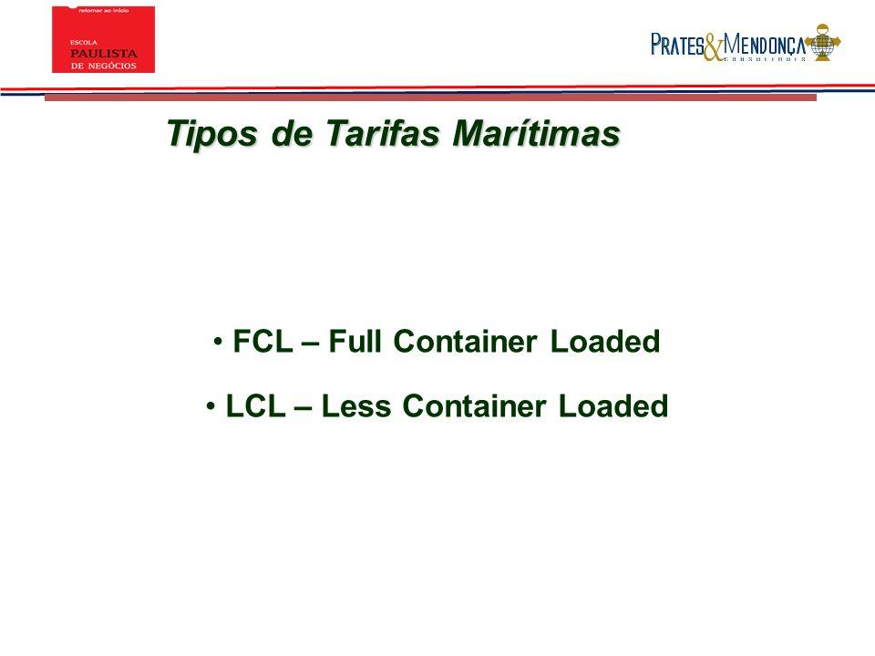 Tipos de Tarifas Marítimas