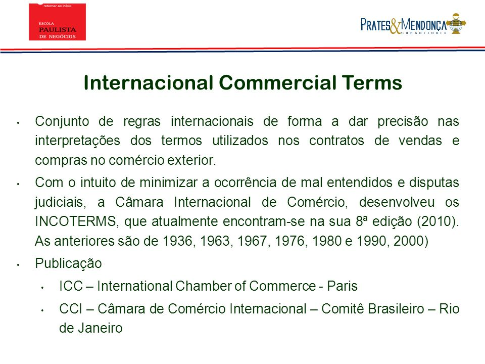 Internacional Commercial Terms