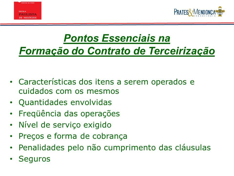 Pontos Essenciais na Formação do Contrato de Terceirização