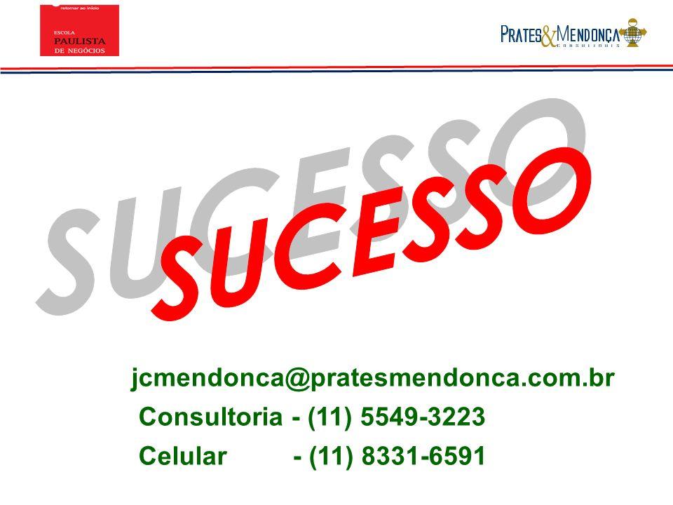 SUCESSO jcmendonca@pratesmendonca.com.br Consultoria - (11) 5549-3223