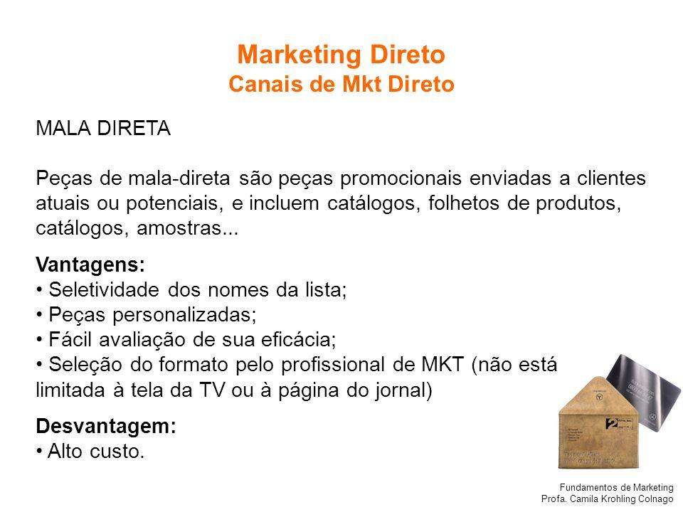 Marketing Direto Canais de Mkt Direto MALA DIRETA