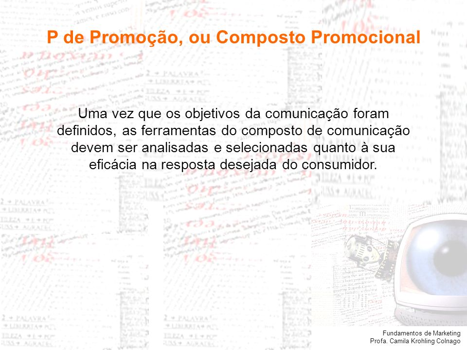 P de Promoção, ou Composto Promocional