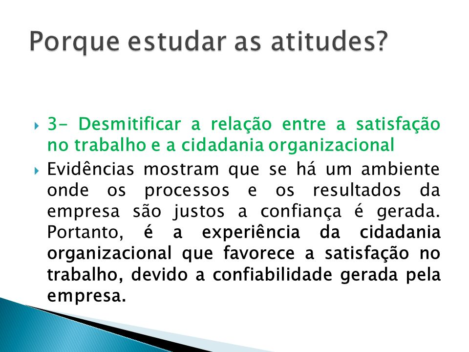 Porque estudar as atitudes