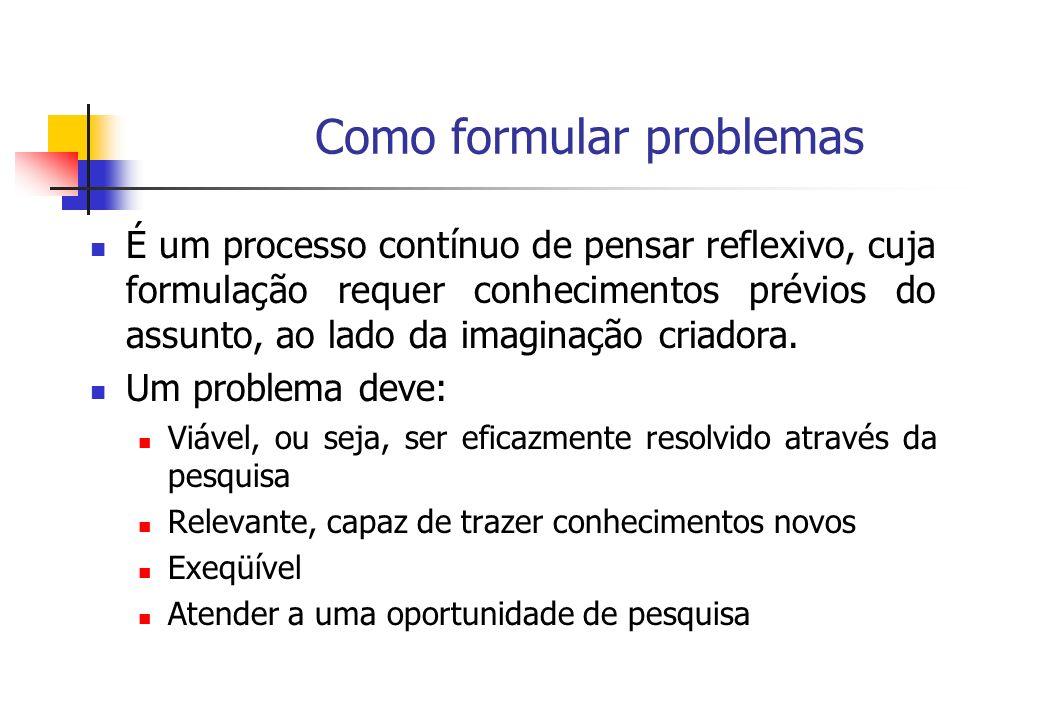 Como formular problemas
