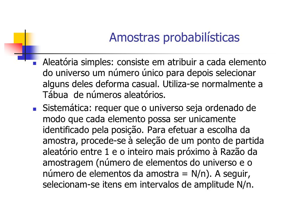Amostras probabilísticas