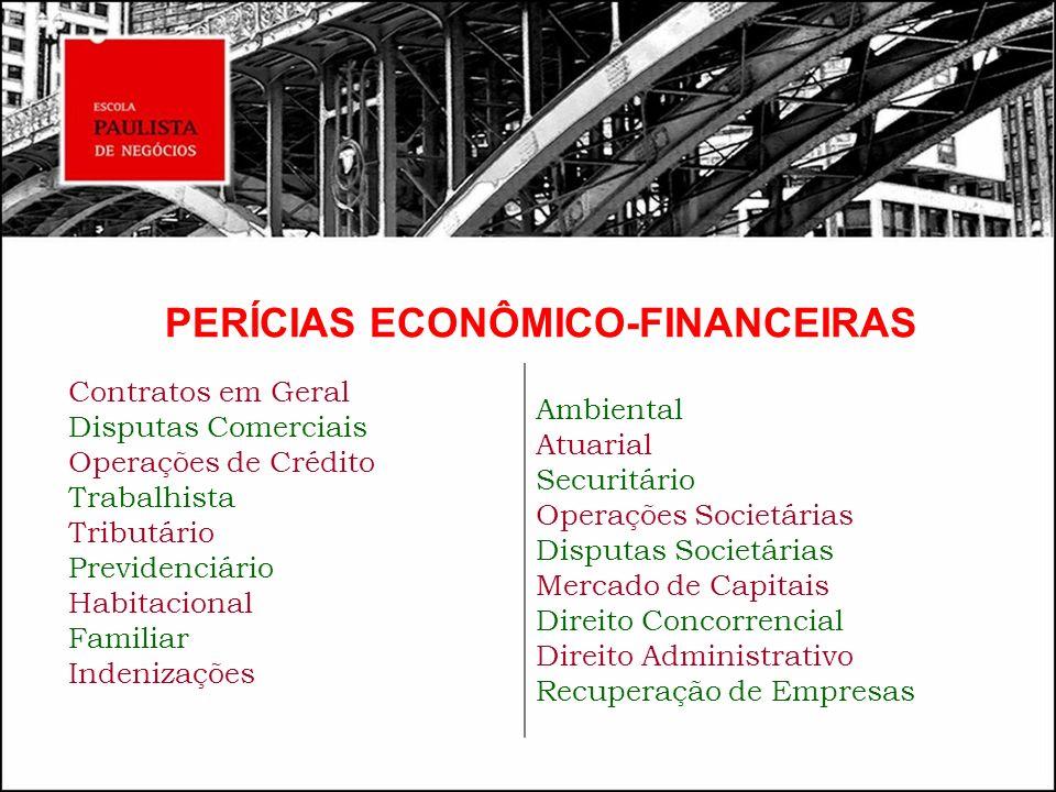 PERÍCIAS ECONÔMICO-FINANCEIRAS