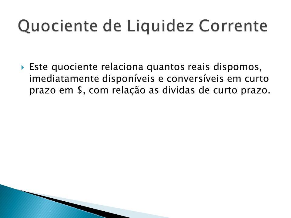 Quociente de Liquidez Corrente
