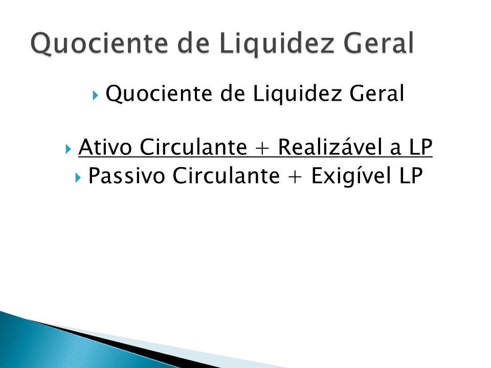 Quociente de Liquidez Geral