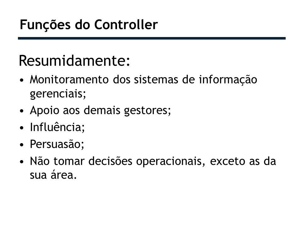 Resumidamente: Funções do Controller