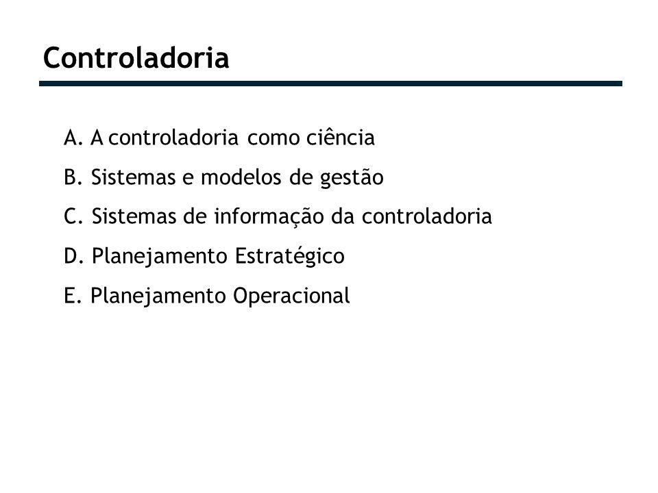 Controladoria A. A controladoria como ciência