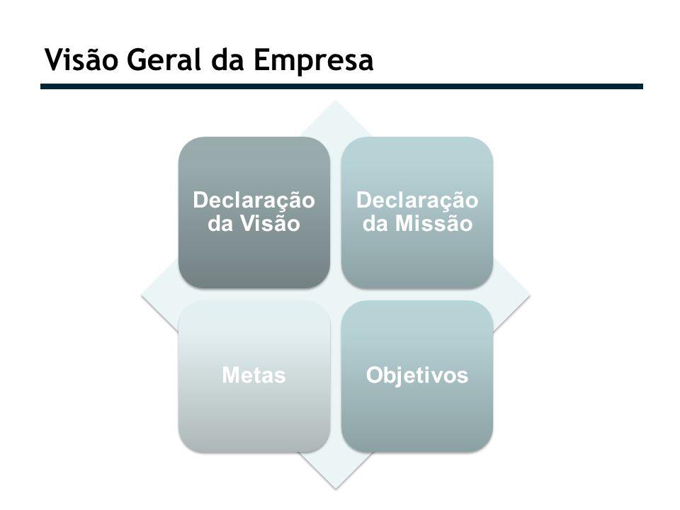 Visão Geral da Empresa Declaração da Visão Declaração da Missão Metas
