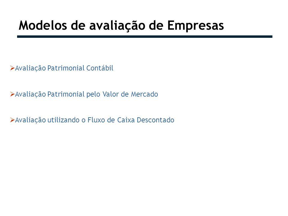 Modelos de avaliação de Empresas