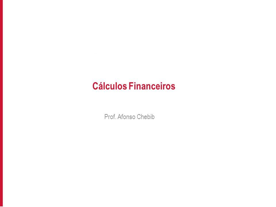 Cálculos Financeiros Prof. Afonso Chebib