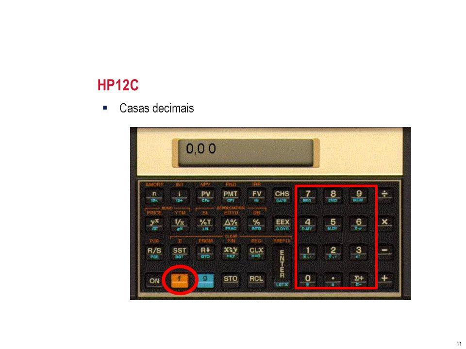 HP12C Casas decimais