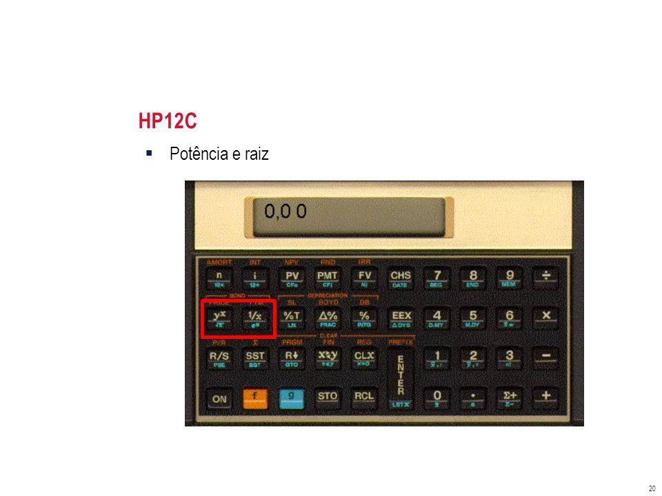 HP12C Potência e raiz
