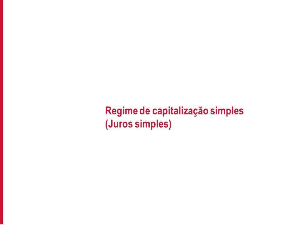Regime de capitalização simples