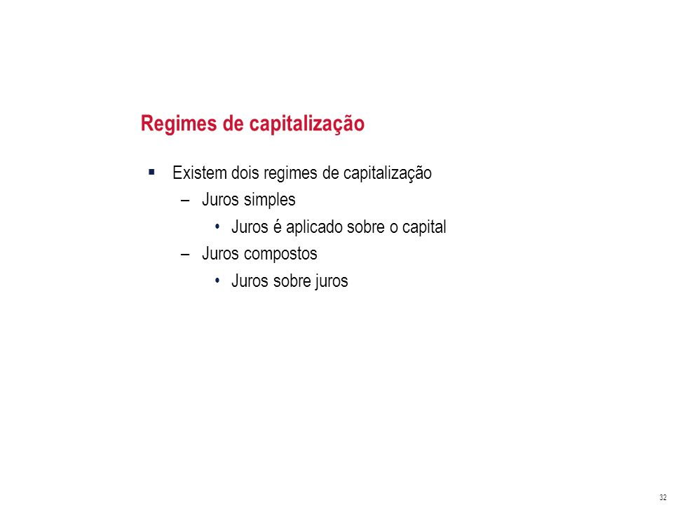 Regimes de capitalização