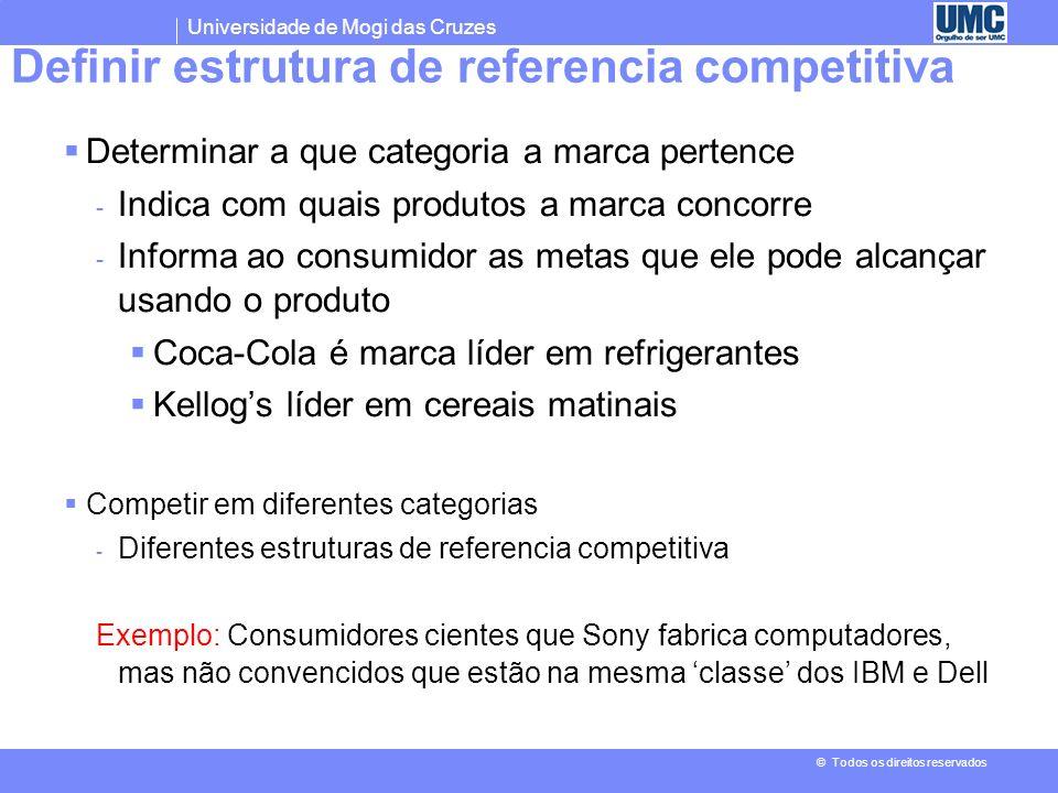 Definir estrutura de referencia competitiva
