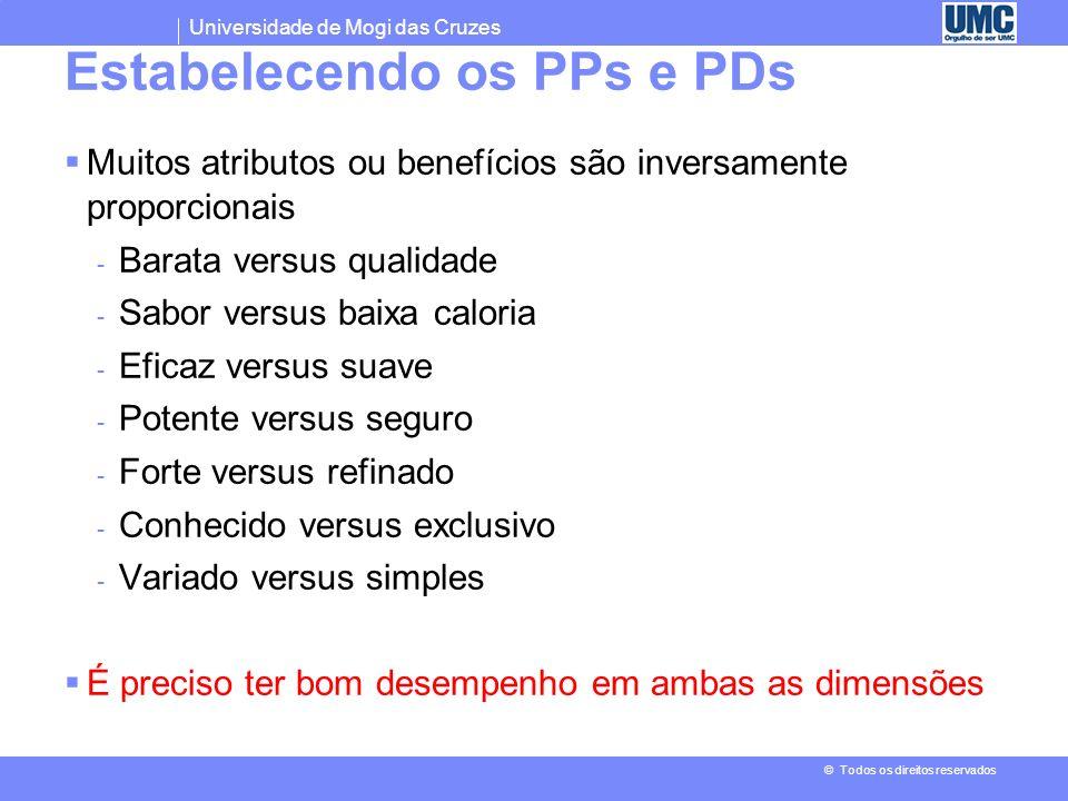 Estabelecendo os PPs e PDs