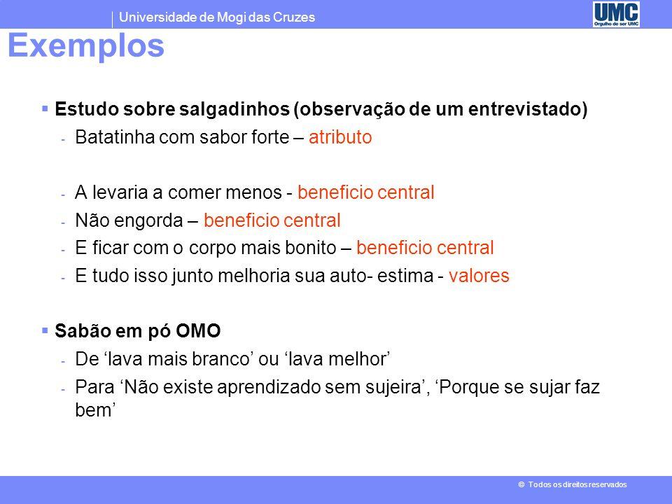 Exemplos Estudo sobre salgadinhos (observação de um entrevistado)