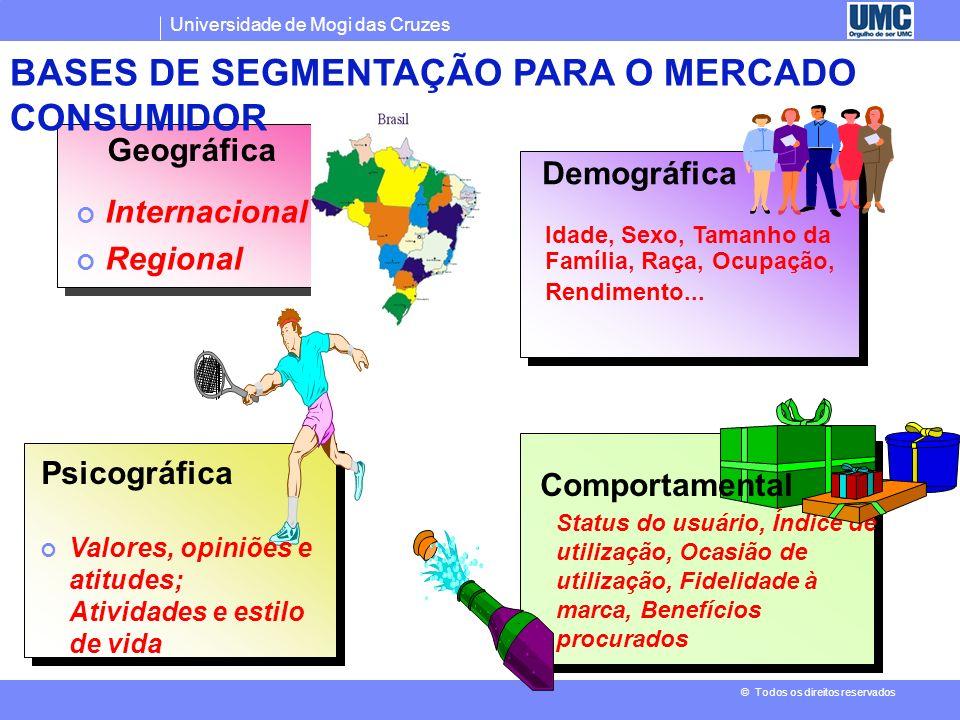 BASES DE SEGMENTAÇÃO PARA O MERCADO CONSUMIDOR