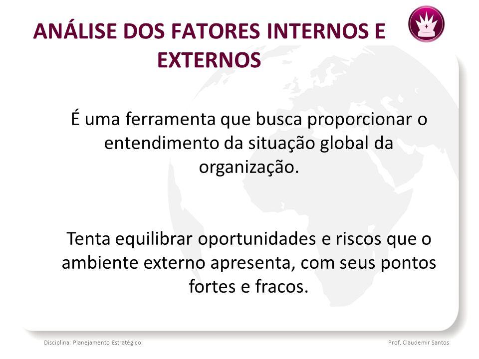 ANÁLISE DOS FATORES INTERNOS E EXTERNOS