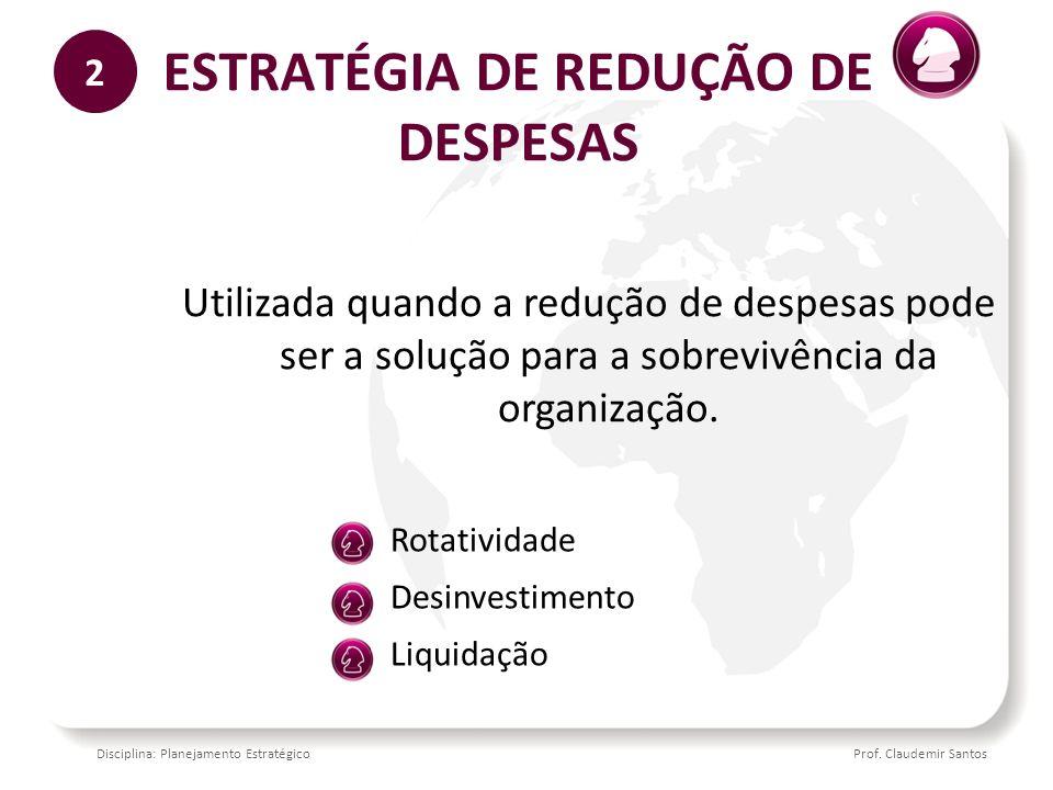ESTRATÉGIA DE REDUÇÃO DE DESPESAS