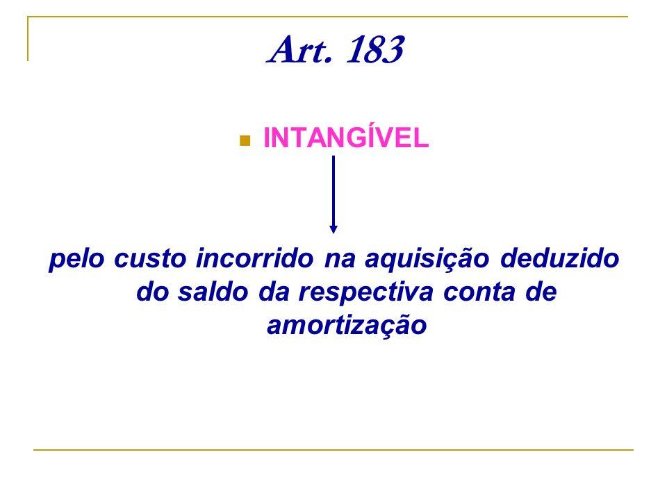 Art.183INTANGÍVEL.