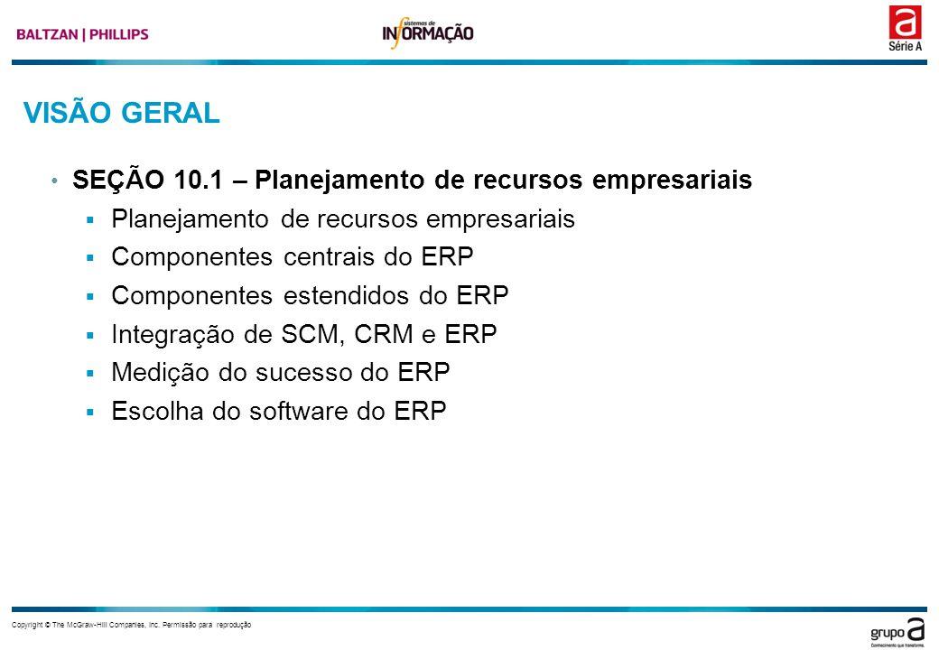 VISÃO GERAL SEÇÃO 10.1 – Planejamento de recursos empresariais