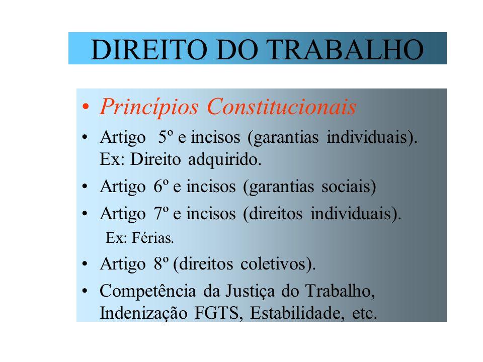 DIREITO DO TRABALHO Princípios Constitucionais