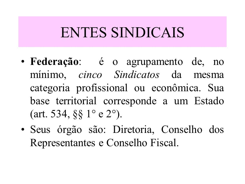 ENTES SINDICAIS