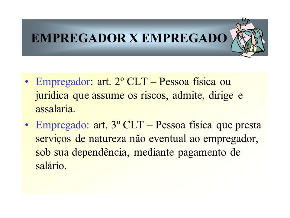 EMPREGADOR X EMPREGADO