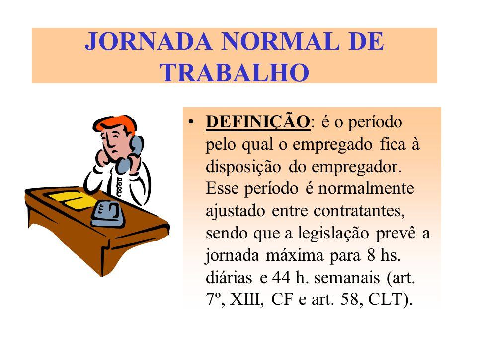 JORNADA NORMAL DE TRABALHO