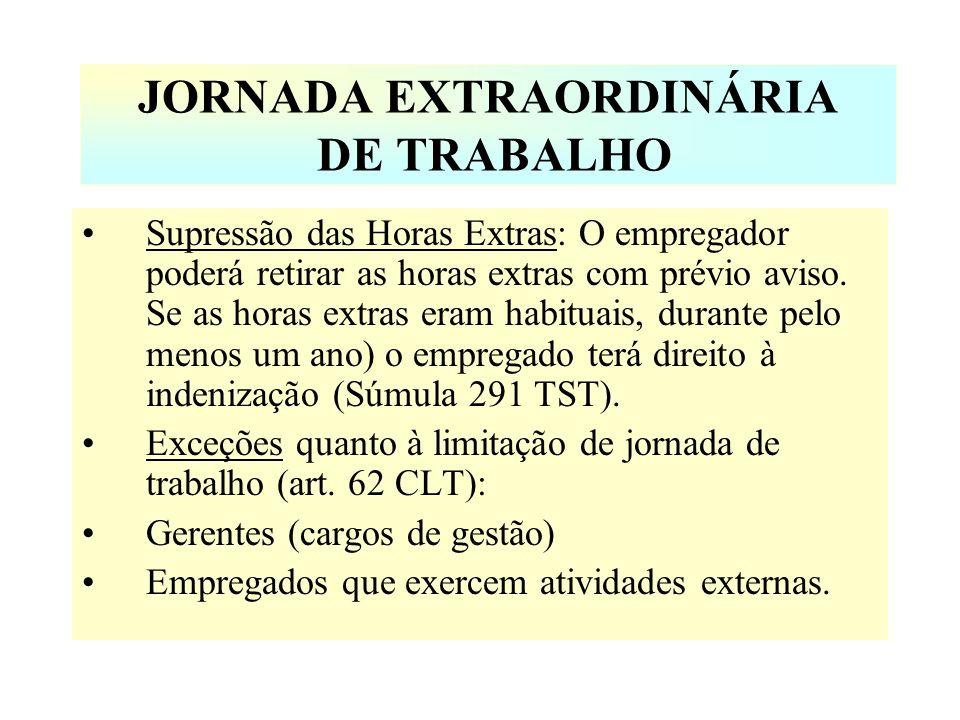 JORNADA EXTRAORDINÁRIA DE TRABALHO