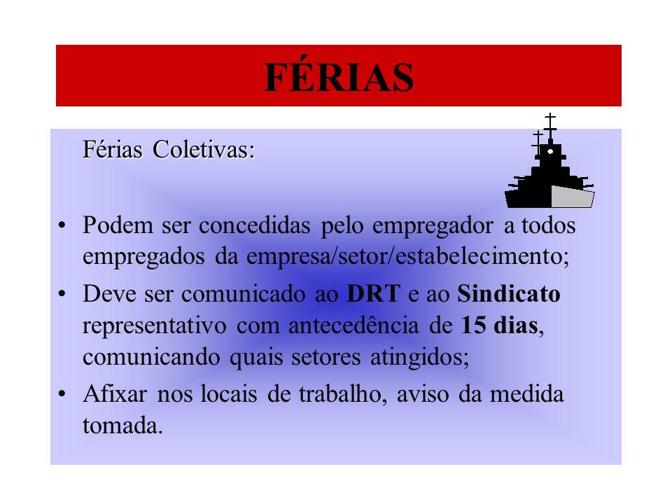 FÉRIAS Férias Coletivas: